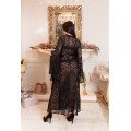 BLACK ELEGANT LONG DRESSING GOWN FOR WOMEN